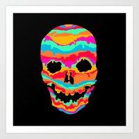 Melting Inside (dark) Art Print