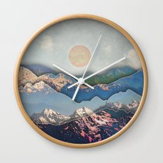 Rolling Mountains Wall Clock