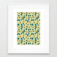 Gerbera Blue Framed Art Print