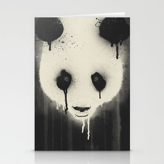 PANDA STARE Stationery Card