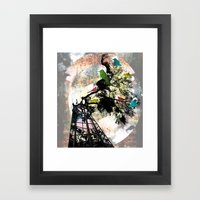 Life in a Cage Framed Art Print