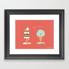Lighten Up, Popsicle.  Framed Art Print