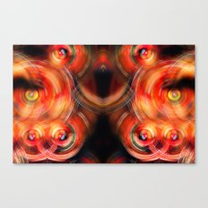 Secret Neural Pathways of an FM Synth #abstract Canvas Print