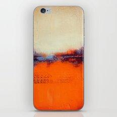 Orange and White iPhone & iPod Skin