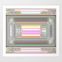 Moderne Glitch Art Print