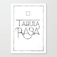 Tabula Rasa Canvas Print