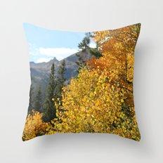 Autumn in the Rocky Mountains at Diamond Lake Trail, Eldora Colorado Throw Pillow