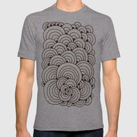 Dot Cluster 4 Mens Fitted Tee Athletic Grey SMALL
