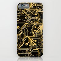 iPhone & iPod Case featuring Techno Organic  by Leigh Wortley