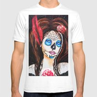 1920's Flapper Sugar Sku… Mens Fitted Tee White SMALL