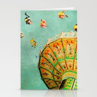You Spin Me Right Round Carnival Swing Stationery Cards