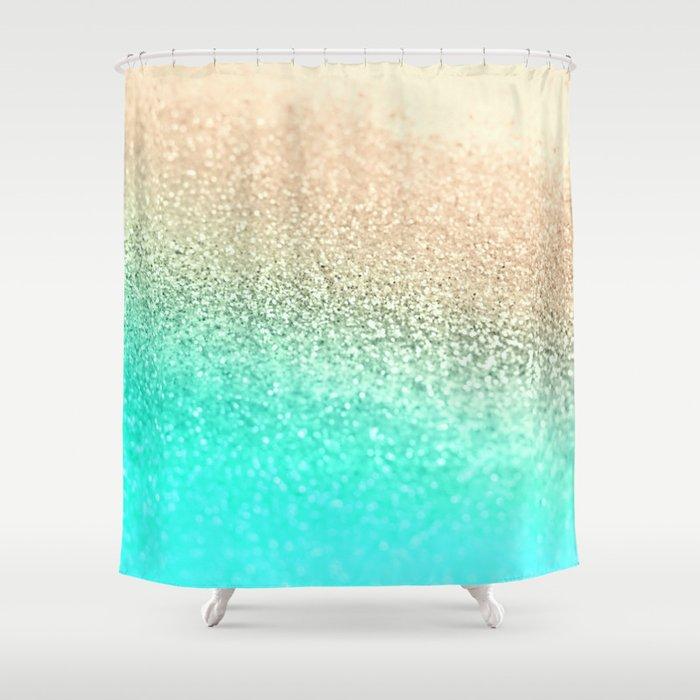 GOLD AQUA Shower Curtain By Monika Strigel