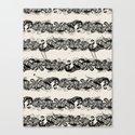 Ocean Sushi Stripe Canvas Print