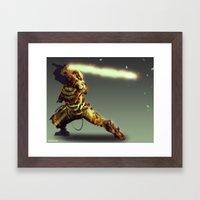Scorpion Cyber Evolution Framed Art Print