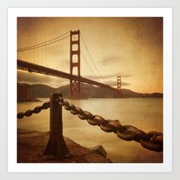 Vintage Golden Gate Art Print