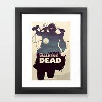 Daryl Dixon - Blue Framed Art Print
