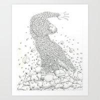The Birth Of The Monkey … Art Print