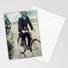 Cybermen on bikes Stationery Cards