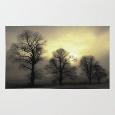 Golden Tree Landscape Rug