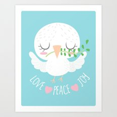 LOVE PEACE & JOY 2016 Art Print