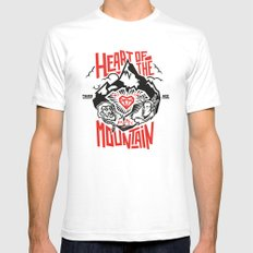 Heart of the Mountain SMALL Mens Fitted Tee White