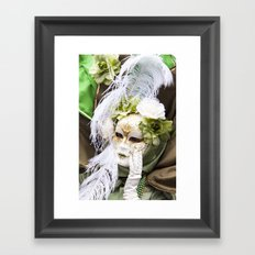 Venetian mask - Lady Nature Framed Art Print