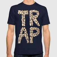 Trap Music  Mens Fitted Tee Navy SMALL