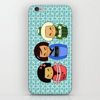 kokeshis (Japanese dolls) iPhone & iPod Skin