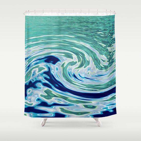 OCEAN ABSTRACT 2 Shower Curtain