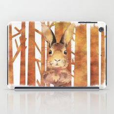 Rabbit in the forest- abstract watercolor work  iPad Case