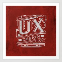 UX - Industrial Design -… Art Print
