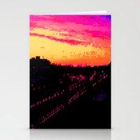 Train City Stationery Cards