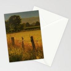 Landscape whit field Stationery Cards