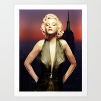 Art Print featuring Marilyn Forever by Viggart