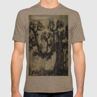 THE RONIN Mens Fitted Tee Tri-Coffee SMALL