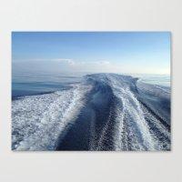 Boat Wake View, Florida Keys Canvas Print