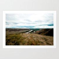 Alberta badlands Art Print