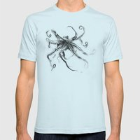 Star Octopus Mens Fitted Tee Light Blue SMALL