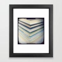 Blue Chevron Books Framed Art Print