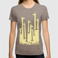 Such A Great Height Womens Fitted Tee Tri-Coffee SMALL