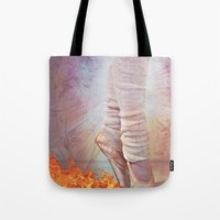 Ballet Shoes & Flames of Fire Tote Bag