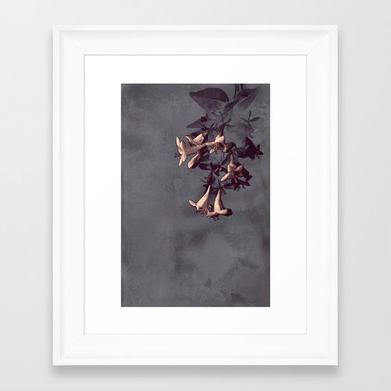 Evening Flowers Framed Art Print