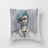 Bearded Throw Pillow