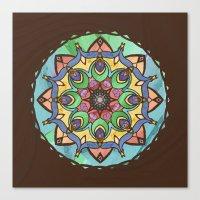 Silk And Sand Mandala Canvas Print