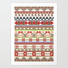 Traditional pattern Art Print