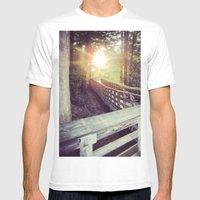 Sun In The Park Mens Fitted Tee White SMALL