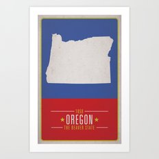OREGON Art Print