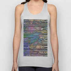 Tree Barcode Stripes Unisex Tank Top