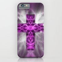 iPhone & iPod Case featuring Purple Cross by Mr D's Abstract Adventures