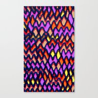 Painted and digital wibbly pattern Canvas Print